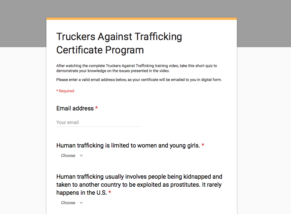 Tat Certificate Program Page Truckers Against Trafficking