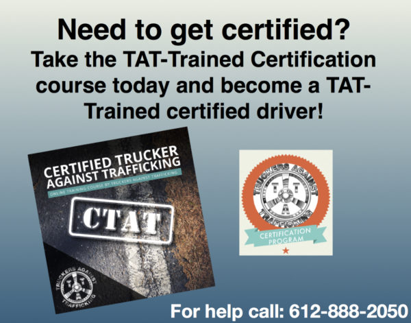 get tat truckers against trafficking certified