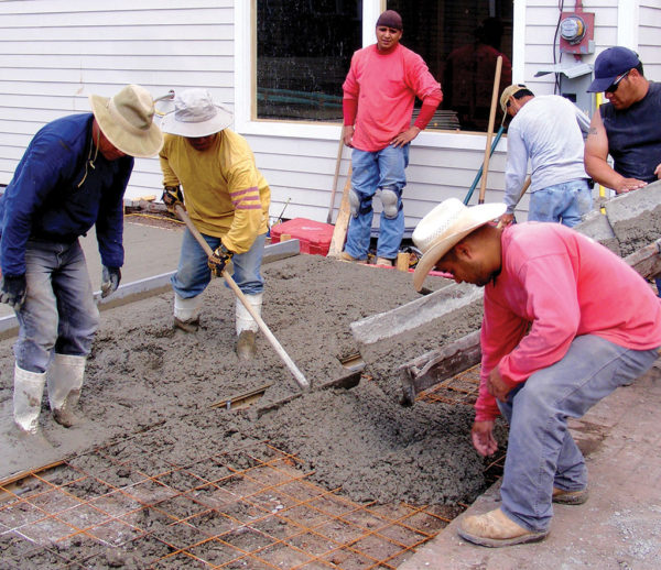 labor trafficking construction cement workers
