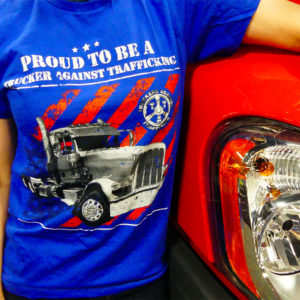 Proud to be a Trucker Against Trafficking shirt