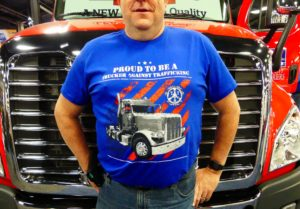 Proud To Be A Trucker Against Trafficking Tshirt