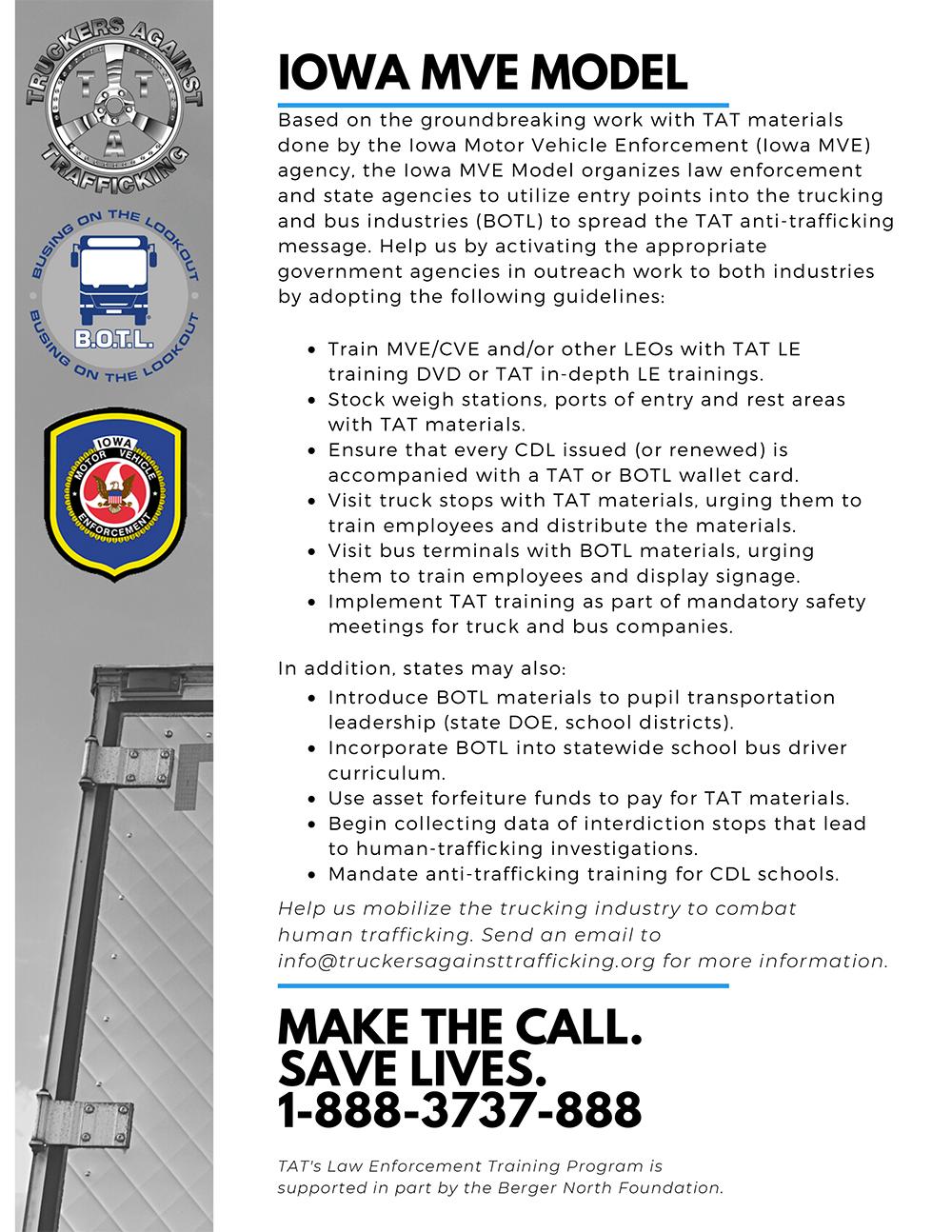 TAT Law Enforcement Training handout